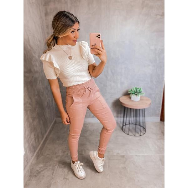 Calça Jogger Rosa Claro
