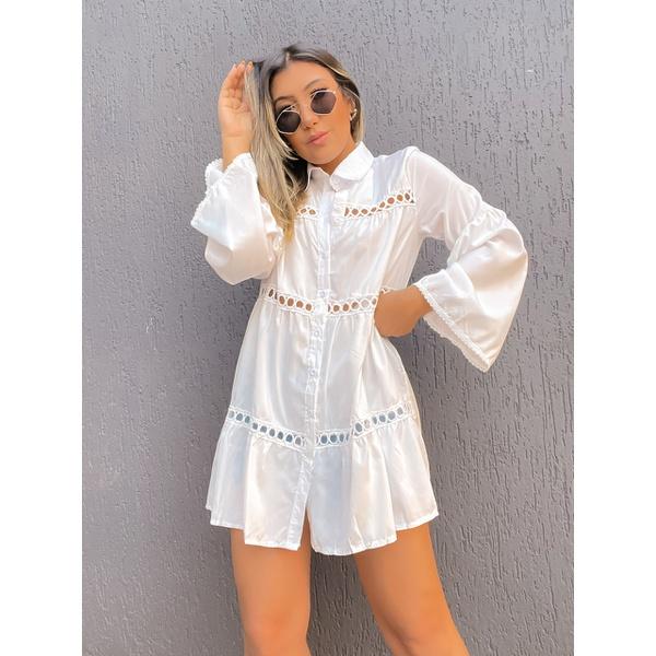 Camisa Bata Rhayssa Branca