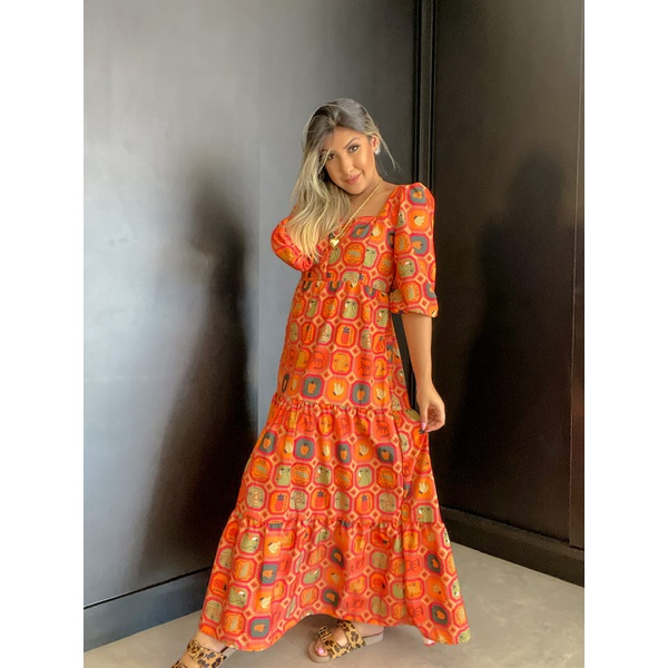 Vestido Raquel Amazônia