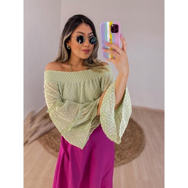 Blusa Ciganinha Nádia Verde