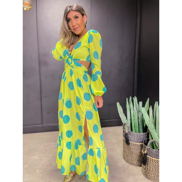 Vestido Rebeca Bolas Lima