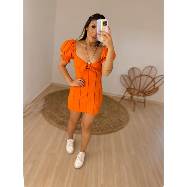 Vestido Sabrina Laranja