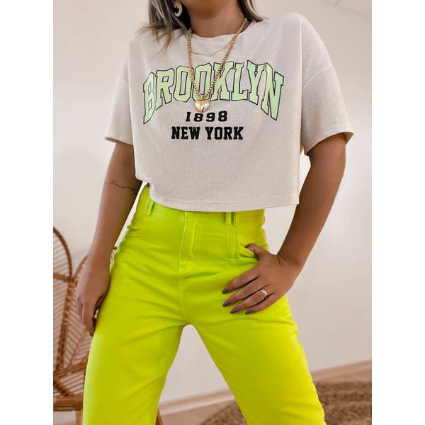Tshirt Lurex Brooklyn Verde Verde