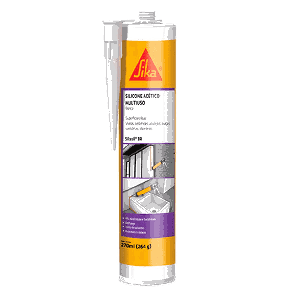 Sika Silicone Sikasil Br Acetico 270 Ml - Sika