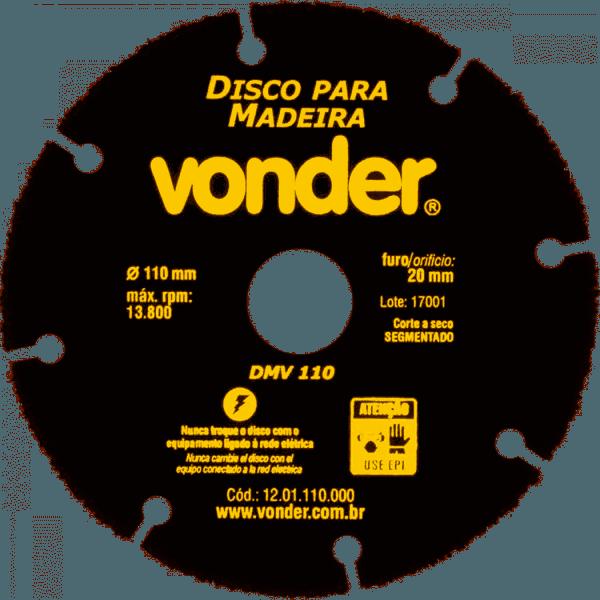 Disco Para Madeira 110mm Dmv110 - Vonder