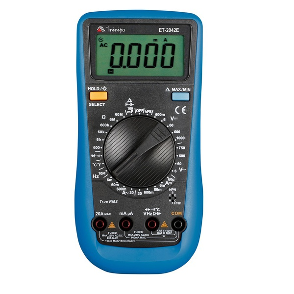 Multímetro Digital Portátil ET-2042E - Minipa