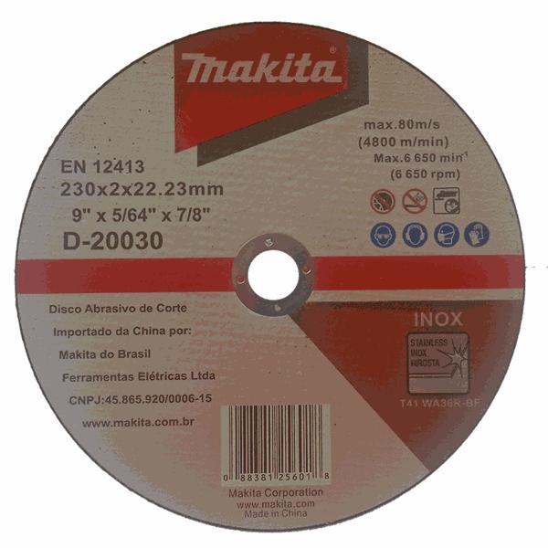 Disco de Corte para Aço Inox 230x2x22.23mm Makita