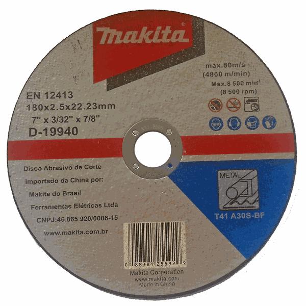Disco de Corte para Metal 180x2.5x22.23mm Makita