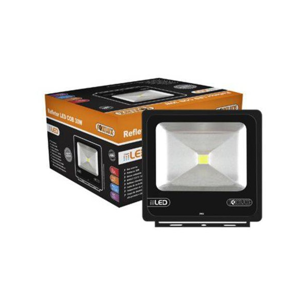 Refletor De Led Cob 50w 6500k Preto Bivolt - Foxlux