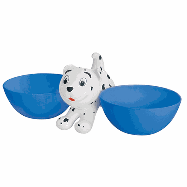 comedouro plastico duplo Cachorrito Azul