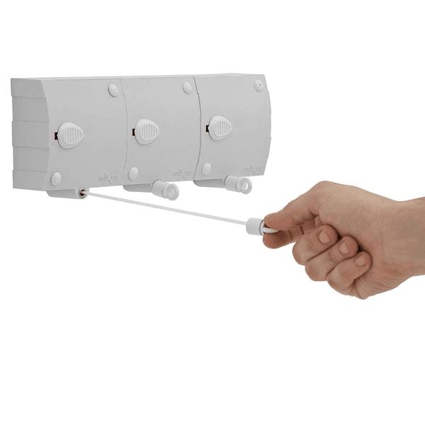 Varal De Parede Automático Stendmax 3 Módulos Com 6 Metros - Maxeb