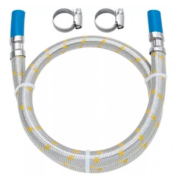 Ligação Engate Flexível Aço Inox Para Gás 2mt 3/8 Blukit