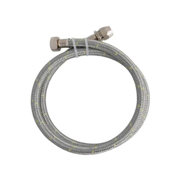 Ligação Flexível em Inox para Gás 1/2`` com Adaptador 3/8`` com 1,20 Metro