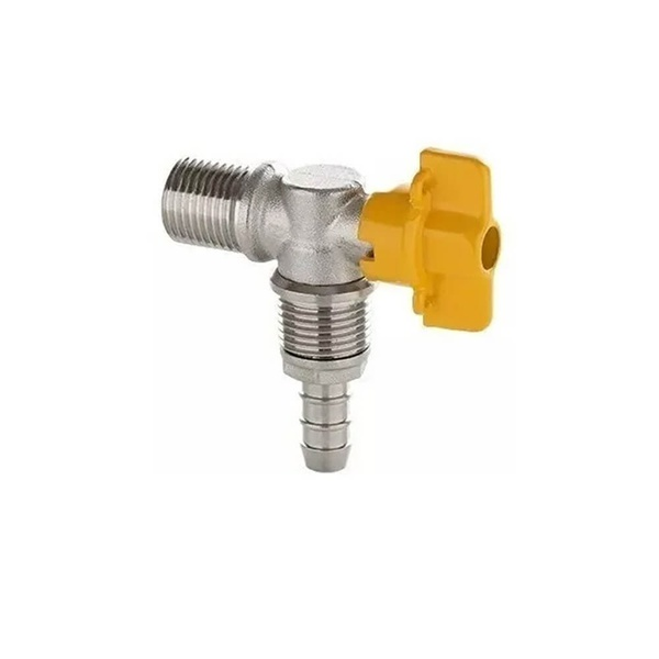 BLUKIT REGISTRO ESF.90 P/GAS 1/2 ROSCA X 3/8 EPIGA 180261-61