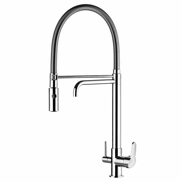 Misturador Monocomando para Cozinha de Mesa com Ducha Especial e Saída para Água Filtrada
