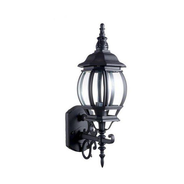 Arandela Colonial Preta 50cm Lille Pequena AC201P-P Biancoluce