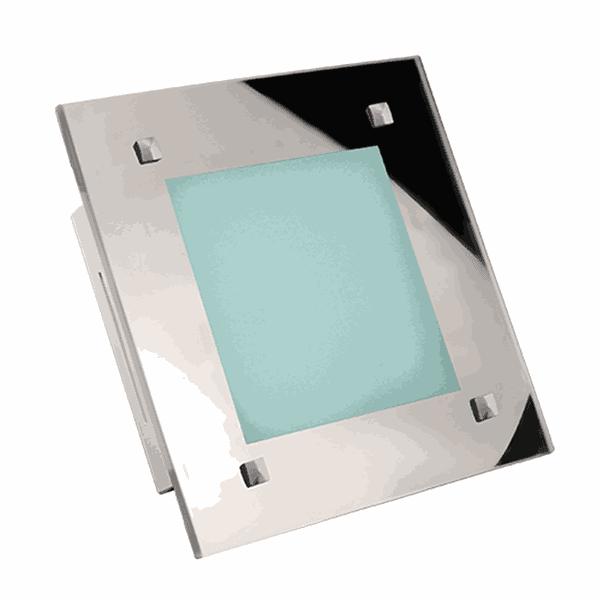 Luminária Plafon Led Com Borda Espelhada (Luz Branca Quente)