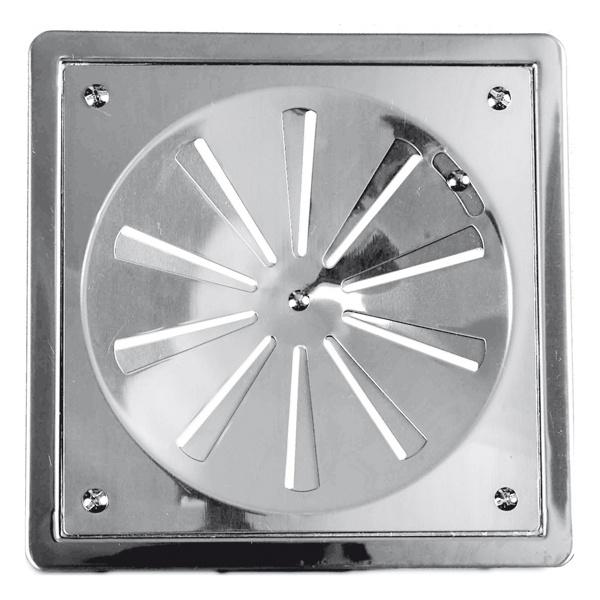 Grelha Quadrada Rotativa 10x10 Com Caixilho - Fabrimar