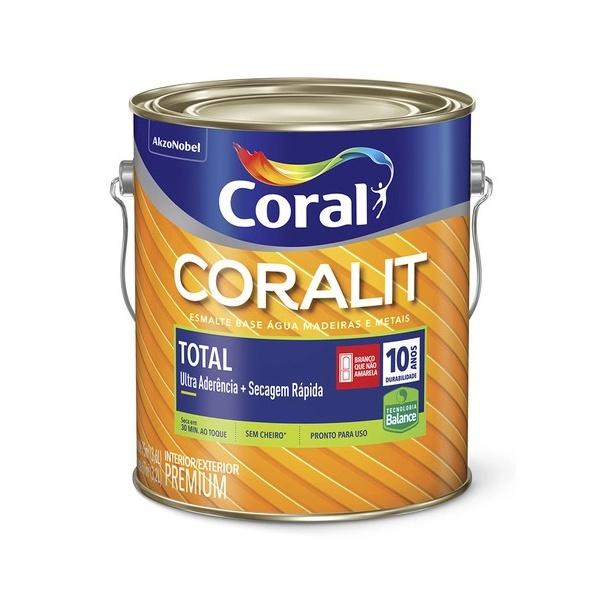 Esmalte Sintético Coralit Acetinado Branco 3,6L