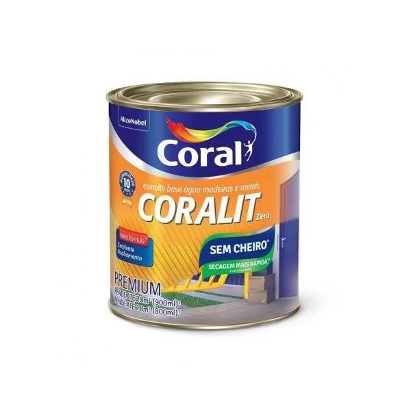 Esmalte Sintético Coralit Secagem Rápida Brilhante Branco 900ML