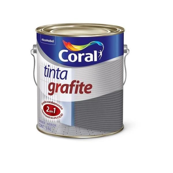 Esmalte Sintético Tinta Grafite Fosco 3,6L - Coral