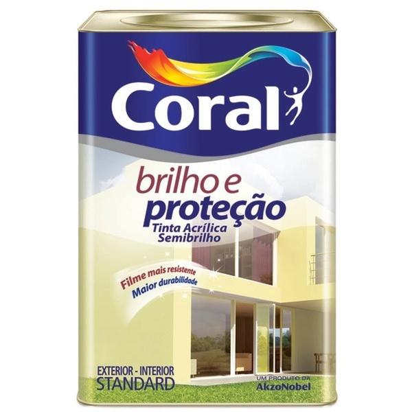Tinta Acrílica Brilho e Proteção Semi Brilho Coral 18 Litros