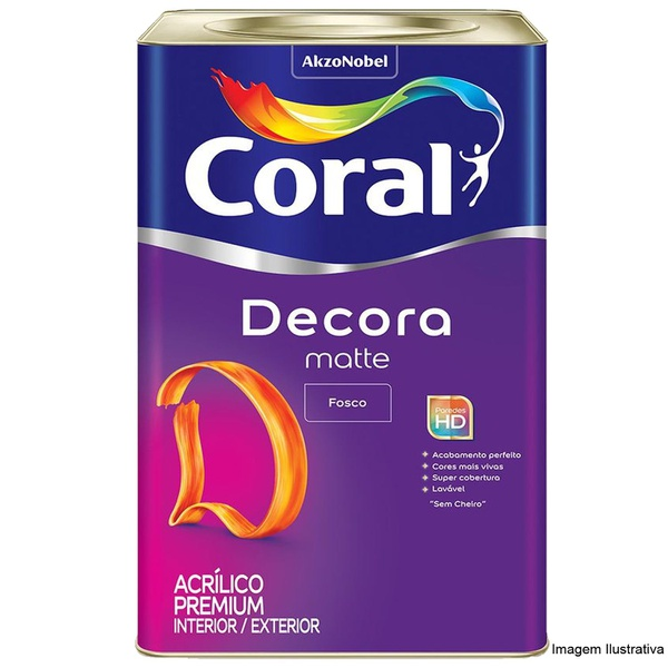 Decora Acrílico Premium Matte Branco Coral 18L