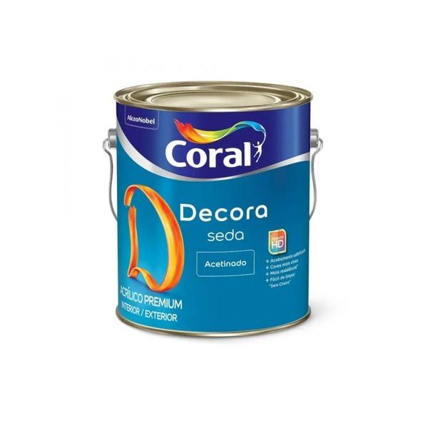 Decora Acrílico Premium Seda Cor Branco Coral 3,6L