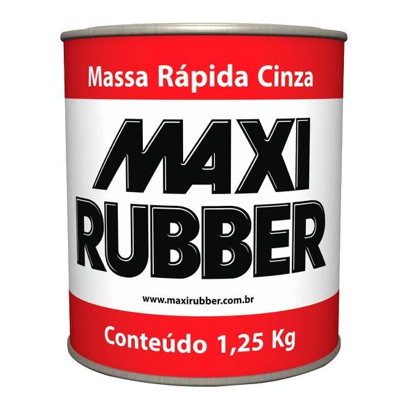 MASSA RÁPIDA COR CINZA MAXI RUBBER 1,25KG