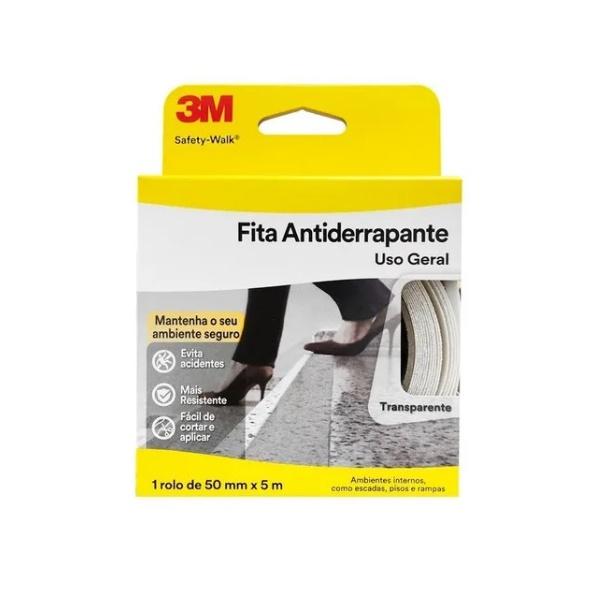 Fita Antiderrapante Transp 50MMX5M 3M