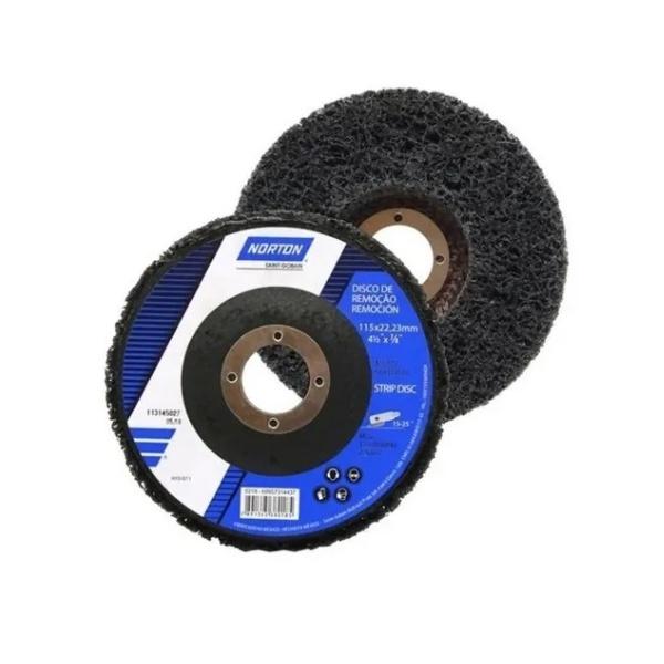Disco de Limpeza Strip Disc Norton Preto 115x22MM