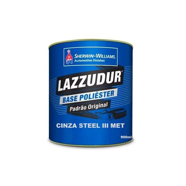Cinza Steel Iii Met 900ml Lazzudur
