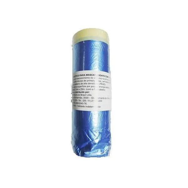 Plastico P/mascaramento C/fita Crepe Lazzuril