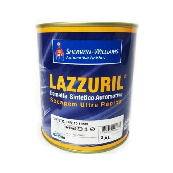 Esmalte Sintético Preto Fosco 3,6 Lazzuril