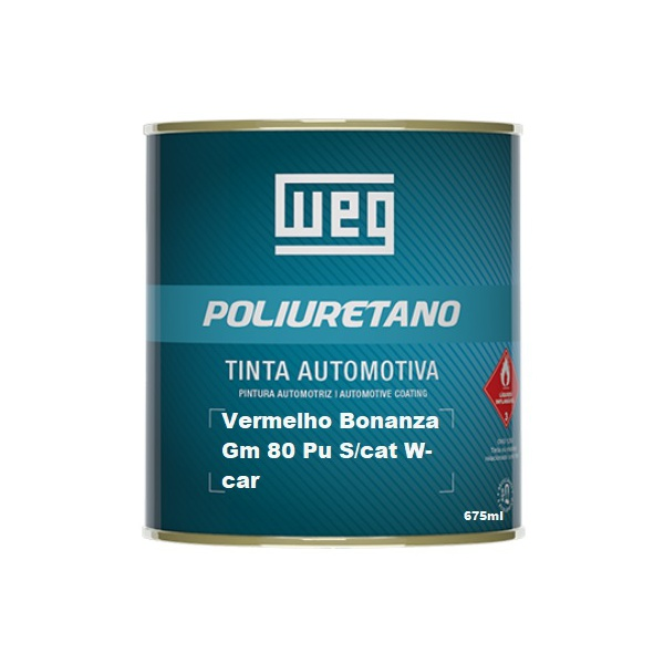 Vermelho Bonanza Gm 80 Pu S/cat W-car 675ml Weg