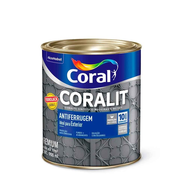 Coralit Antiferrugem Ferrolack Cinza 900ML