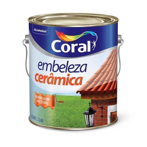 Esmalte Sintético Brilhante Embeleza Cerâmica - Coral 3,6L