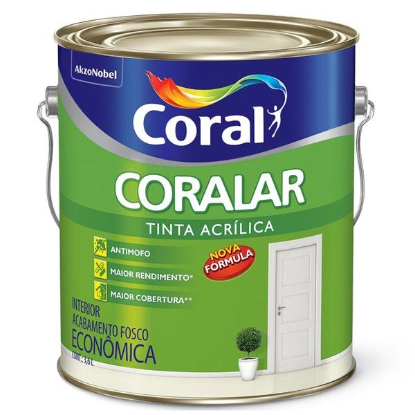 Tinta Acrílica Fosco Coralar Econômica AZUL PRAIA 3,6L