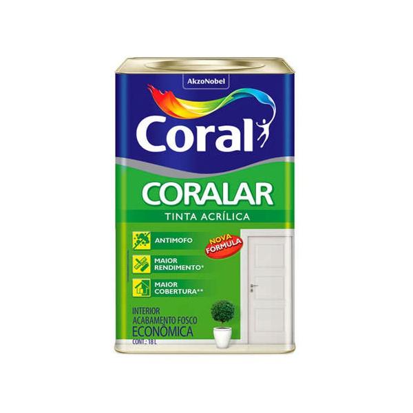 Tinta Acrílica Fosco Coralar Econômica AZUL PRAIA 18L