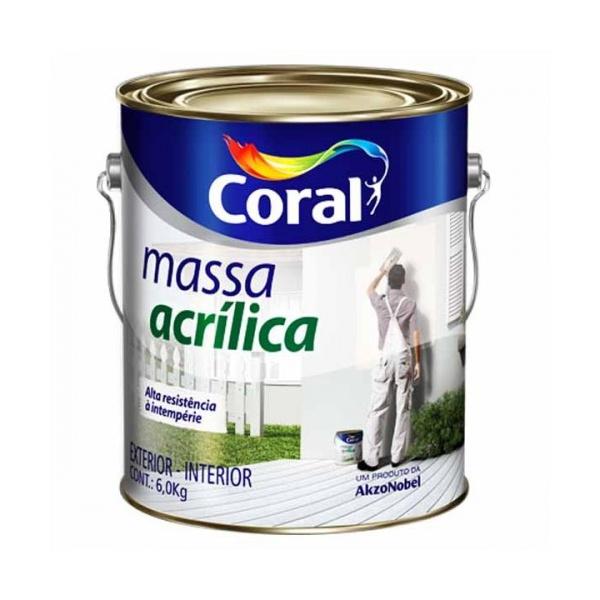 MASSA ACRÍLICA CORAL 6KG