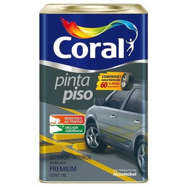 TINTA PINTA PISO CINZA MÉDIO CORAL 18L