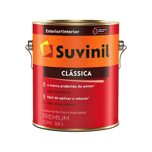 Tinta Clássica PVA Suvinil 3,6 Litros