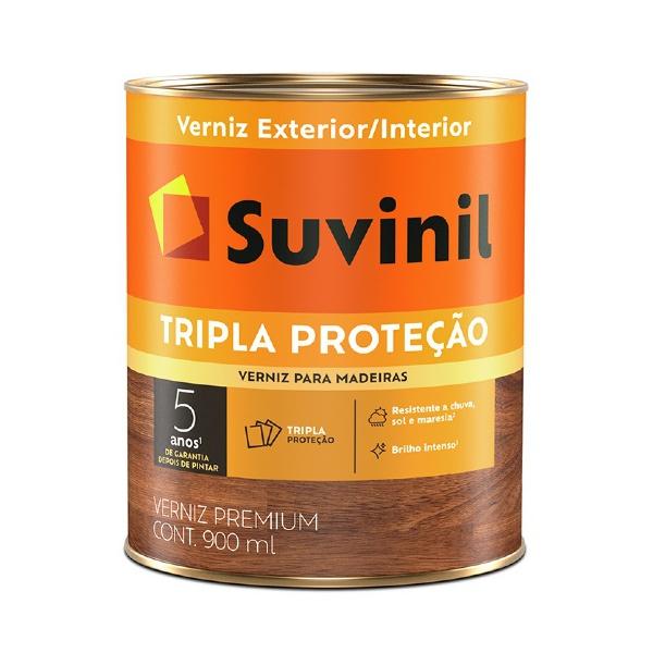 Verniz Mogno Madeira Tripla Proteção Brilhante Suvinil 900ml