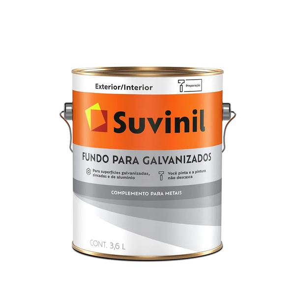 Fundo para Galvanizados Suvinil 3,6 Litros