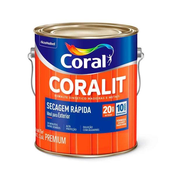 Esmalte SINTÉTICO Brilho Coralit Secagem Rapida COR AMARELO 3,6 ML