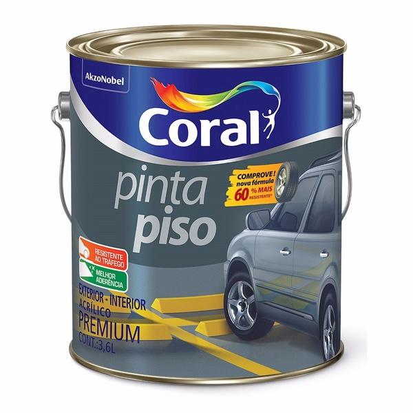 TINTA PINTA PISO COR PRETO CORAL 3,6L