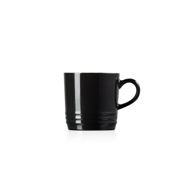 Caneca Cappuccino Preta (Black Onix)