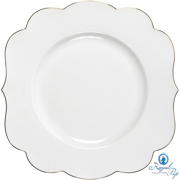 Prato de Sobremesa Liso - Royal White