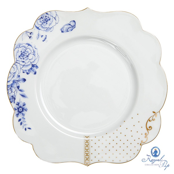 Prato de Sobremesa florido - Royal White