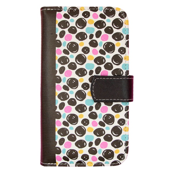 CAPA CARTEIRA ESTAMPADA TENDENCIAS BLACK DOT E204